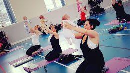 Sweaty Mama maternity fitness class