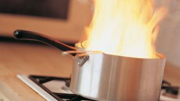 Cooking oil fire